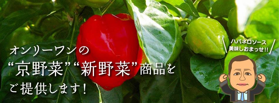 オンリーワンの「京野菜」「新野菜」商品をご提供します!